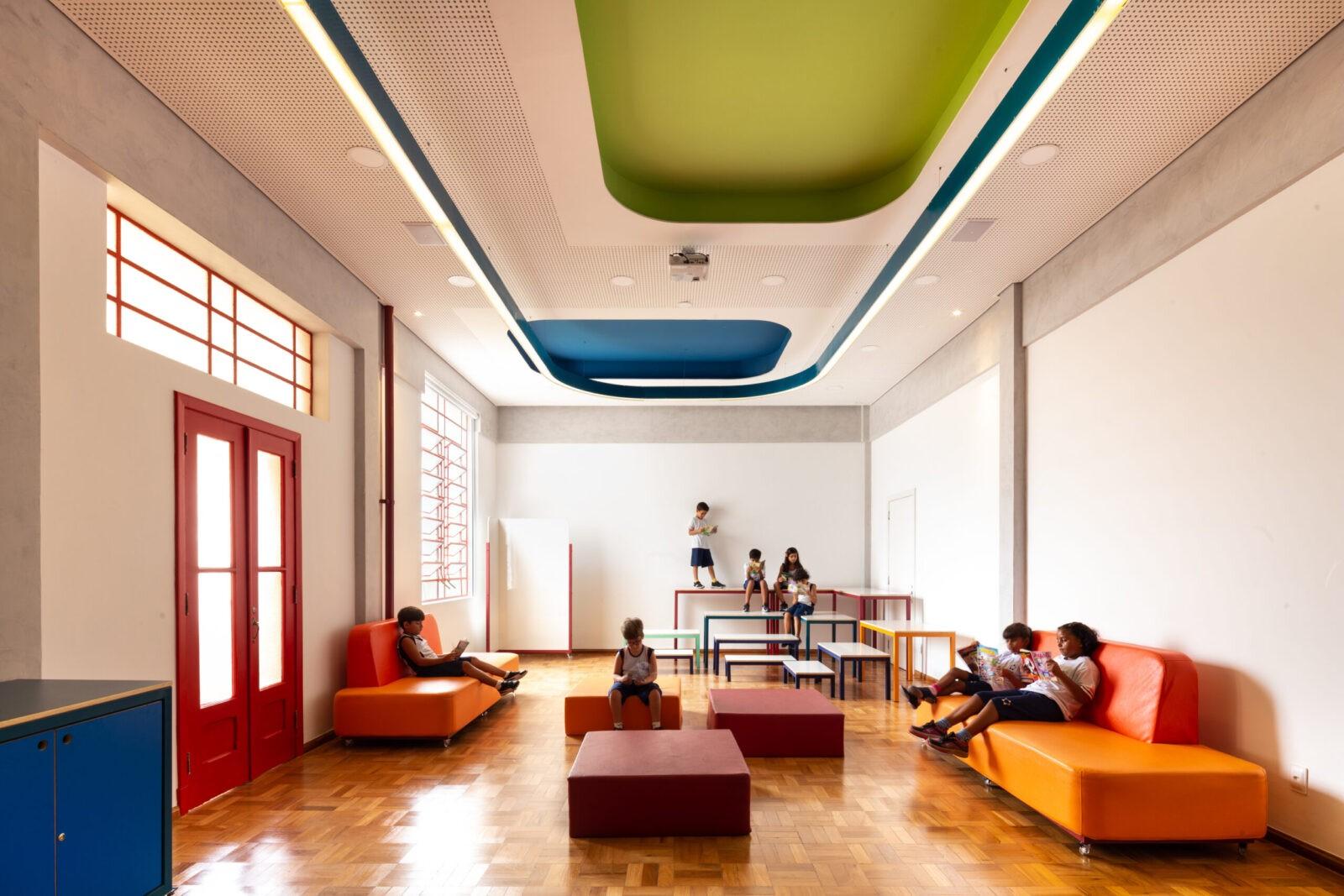 Projeto de arquitetura de interiores para o Santa Marcelina. Espaços de aprendizagem e makerspace