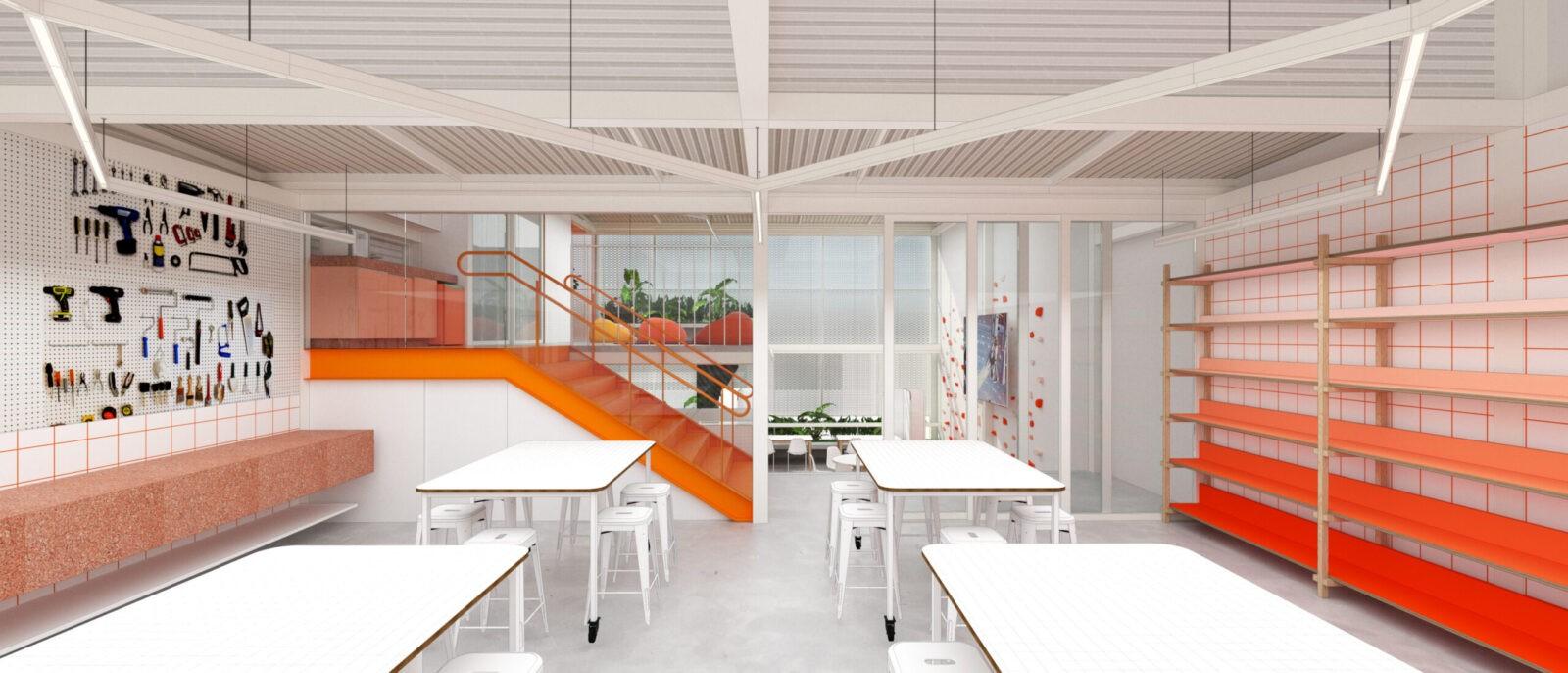 projeto reforma escola makerspace infantil belo horizonte Gabriel castro arquiteto mobio