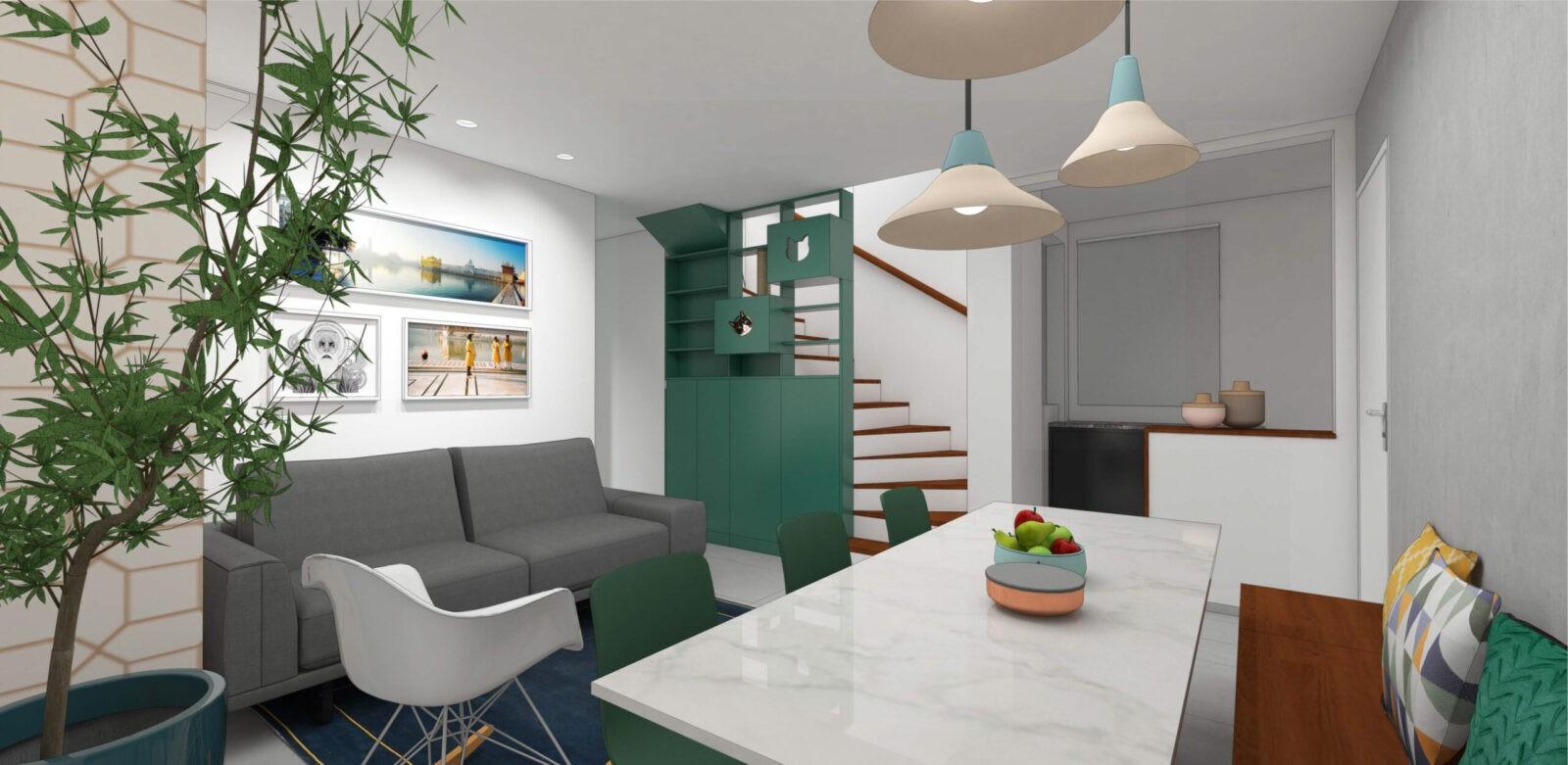 Projeto apartamento reforma arquitetura interiores decoração belo horizonte