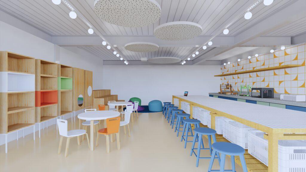 makerspace escola infantil projeto arquitetônico gabriel castro arquitetura escolar reforma belo horizonte colégio