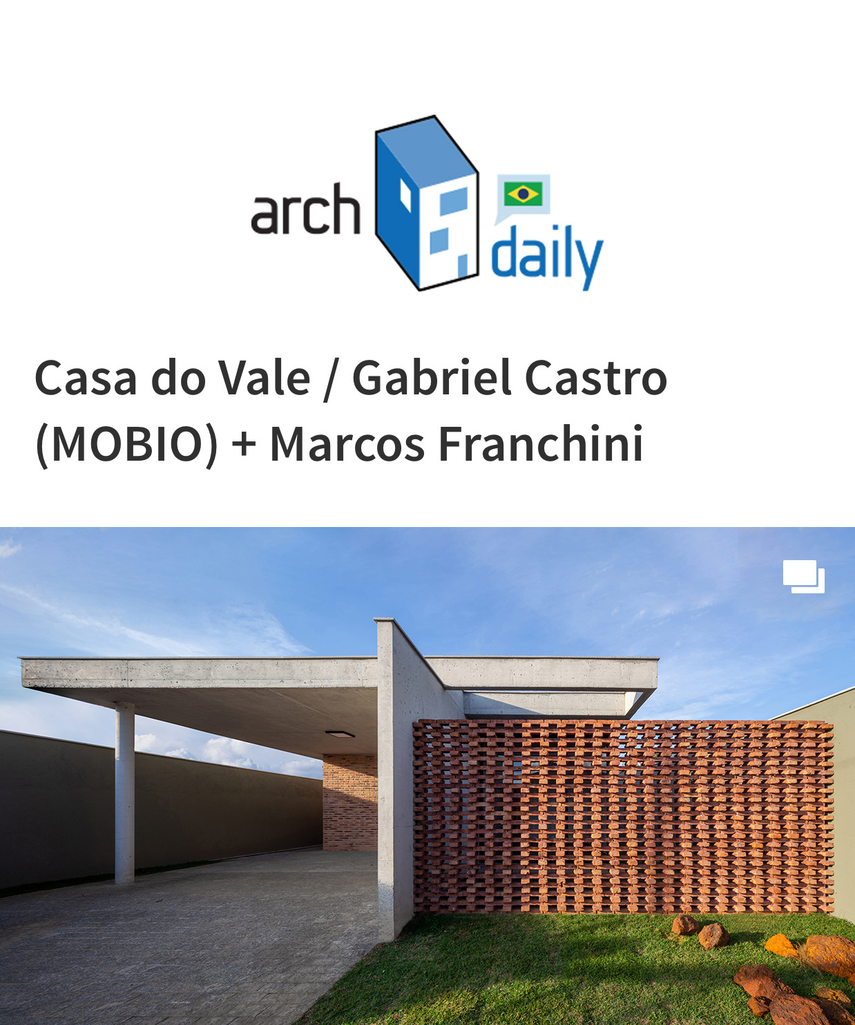 Projeto Casa Vale do Sol no Archdaily